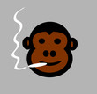 cartoon monkey smoking marijuana