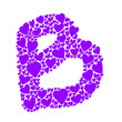 colorful heart alphabet set