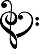 Bassschlüssel, Notenschlüssel, Herz, Musik, Klassik
