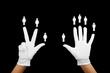 gender balance - hands with women and men