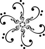 Bassschlüssel Mandala, Notenschlüssel, Klassik