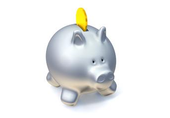 Konzept Geld und Sparen - Sparschwein