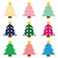 ドット模様クリスマスツリー④