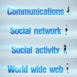Communications, Social network, Social activity, World wide web