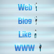 Web, Blog, Like, www : pack of banners.