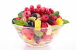 fresh fruits salad in bowl
