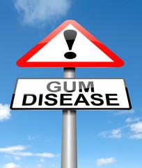 Gum disease concept.