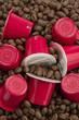 Cápsulas y granos de café