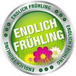 """Button """"Endlich Frühling"""" grün/silber"""