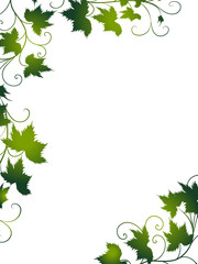 silhouette, blatt, blätter, weinblatt, weinblätter, rahmen, wein