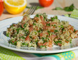Traditional Lebanese salad tabouli