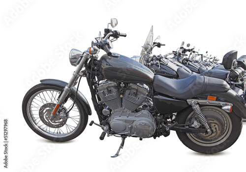 rangée de motos de légende