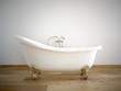 canvas print picture - badewanne mit weißer wand