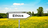 Ethics Wegweiserschild poster