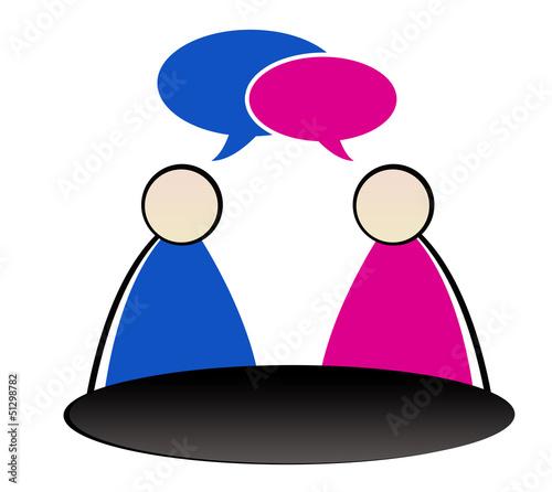 coaching - couple homme et femme discutant