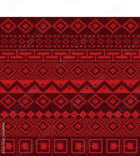 Knitted background in Fair Isle style seamless