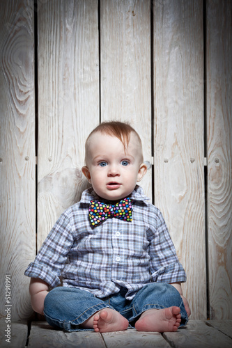 stylish kid in bow tie