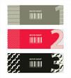 vector paper ticket with numbers and hipster elements