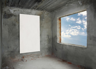 concrete room with window