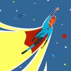 Superhero in space