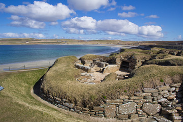 Prehistoric villlage, Orkney, Scotland