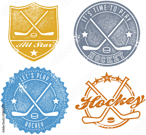 Vintage Hockey Sport Stamps
