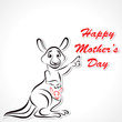 Happy Mother and Baby Kangaroo stock vector