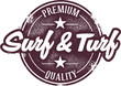 Surf and Turf Menu Stamp