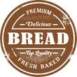 Vintage Bread Bakery Stamp