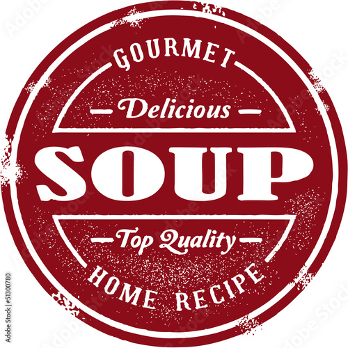 Vintage Soup Menu Stamp