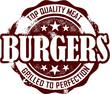 Vintage Burgers Stamp