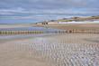 canvas print picture - Wanderung am Strand im Winter auf Sylt nach Wenningstedt