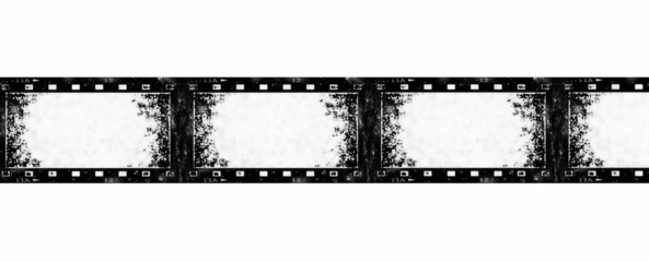 old grunge film strip background, texture