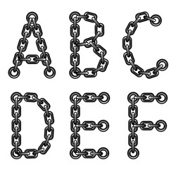Chained alphabet
