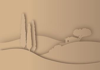 Toskana Scherenschnitt