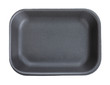 Black empty food tray