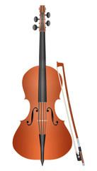 Cello mit Bogen