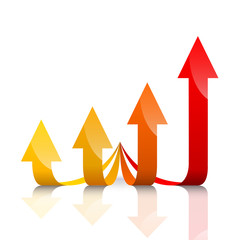 Vector financial growth
