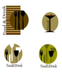 loghi vettoriali per la ristorazione
