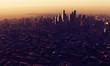 big city at sunrise