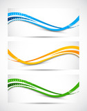 Fototapety Abstract wavy banners