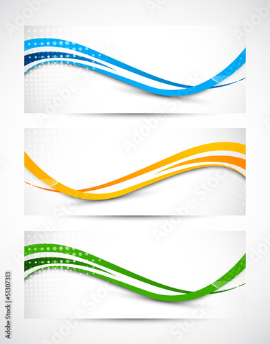 Abstract wavy banners