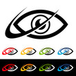 Swoosh Eye Icons
