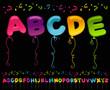 Party Balloons Alphabet