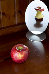 Apple, aging, concept