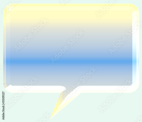 3d speech bubble illustration