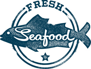 Fresh Seafood Stamp