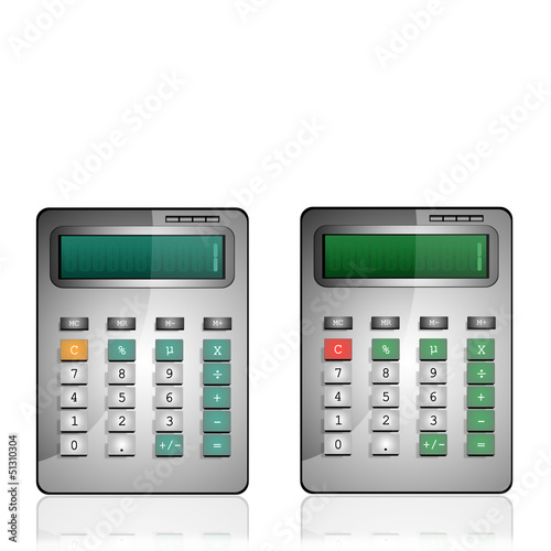 calculatrice écrans verts