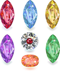 Seven colored gems