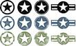 Grunge Military Stars - 51310715
